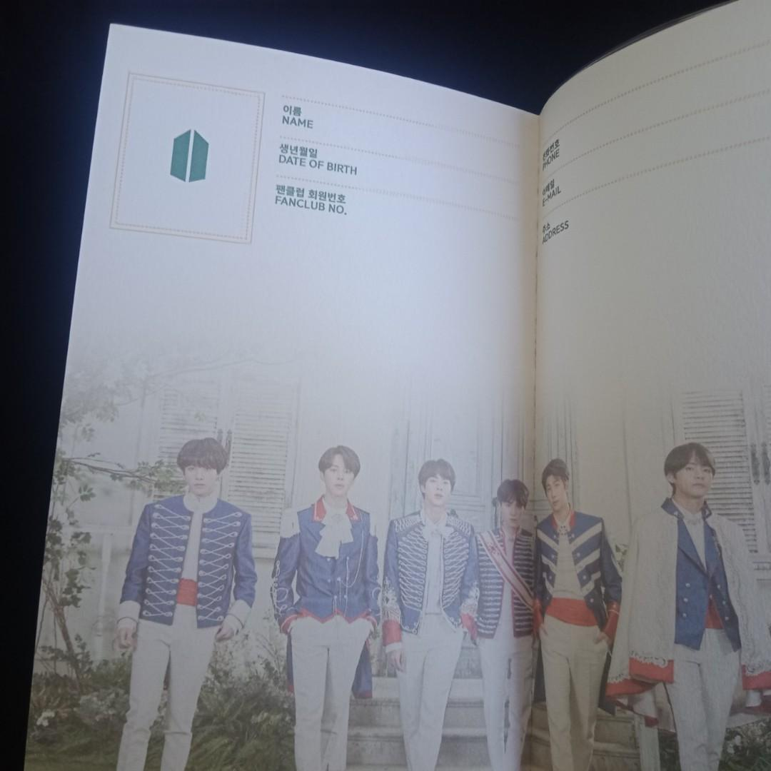 BTS GLOBAL ARMY 5th TERM - ARMY Note Official Loose Item