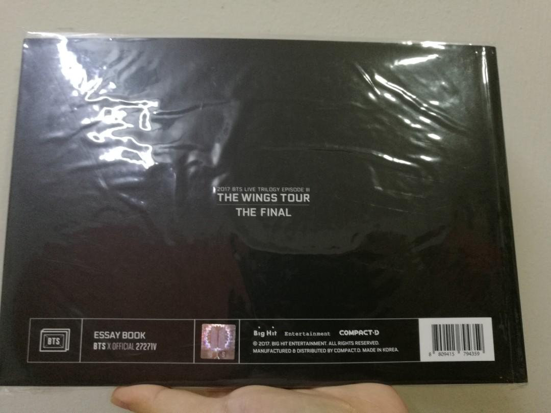 [WTS] BTS Wings Tour Final Essay Book Taehyung/V READY STOCK