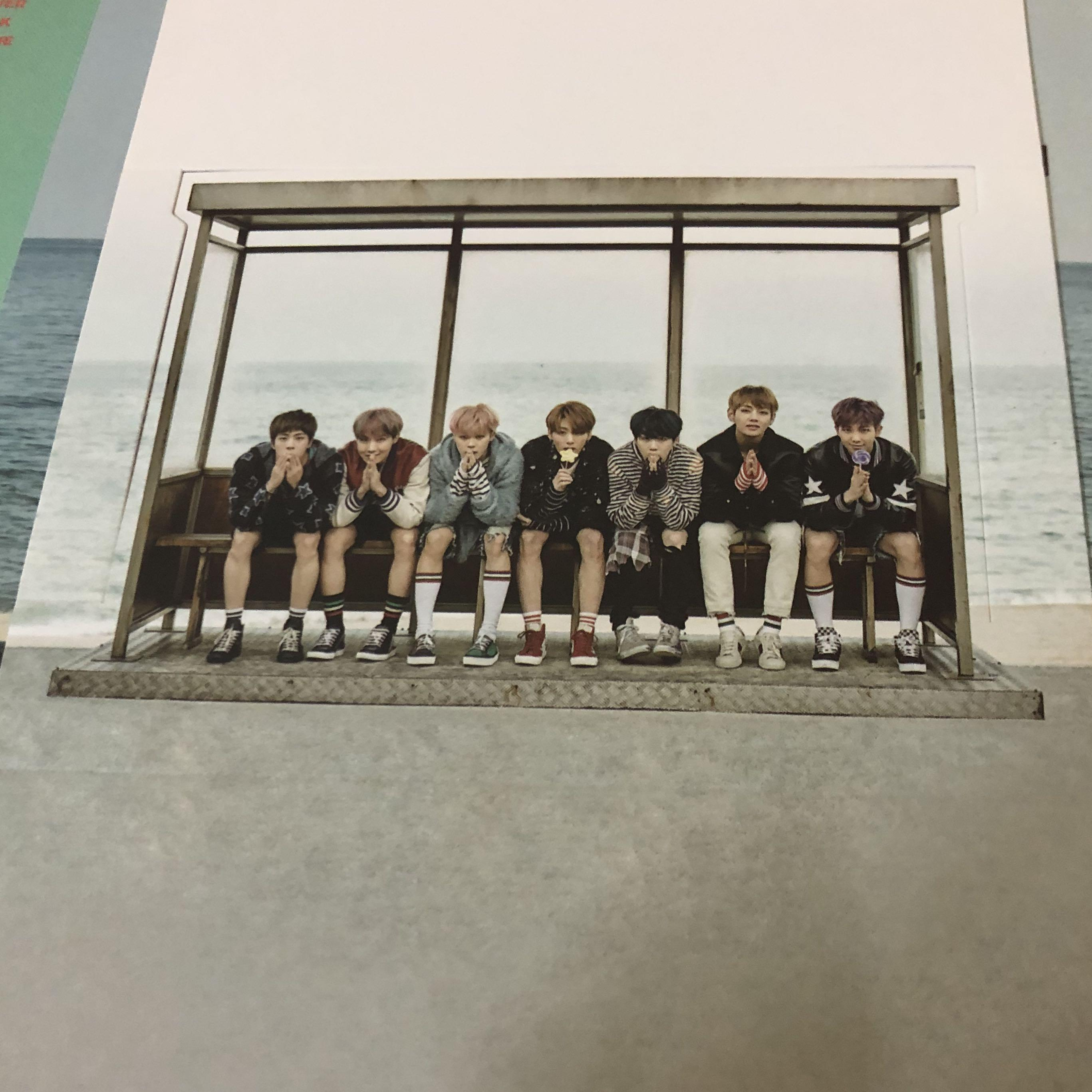 BTS 'YOU NEVER WALK ALONE' Official photocard+photo stand