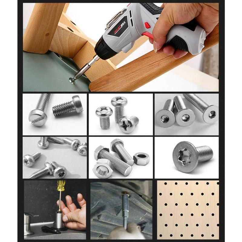Cordless Electric screwdriver power drill 4.8V, power tools interchangeable head, Singapore UK three pin plug adapter
