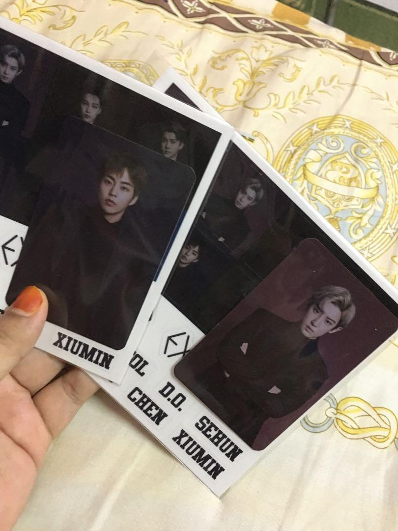 (NO FUSSY BUYER) EXO LIGHTSTICK 3.0 Official PHOTOCARD chanyeol xiumin
