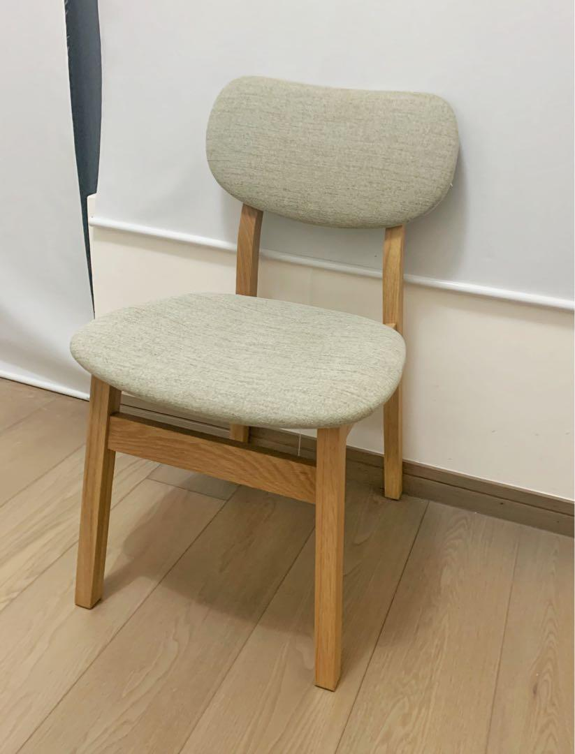 Francfranc solid wood chair 99% new