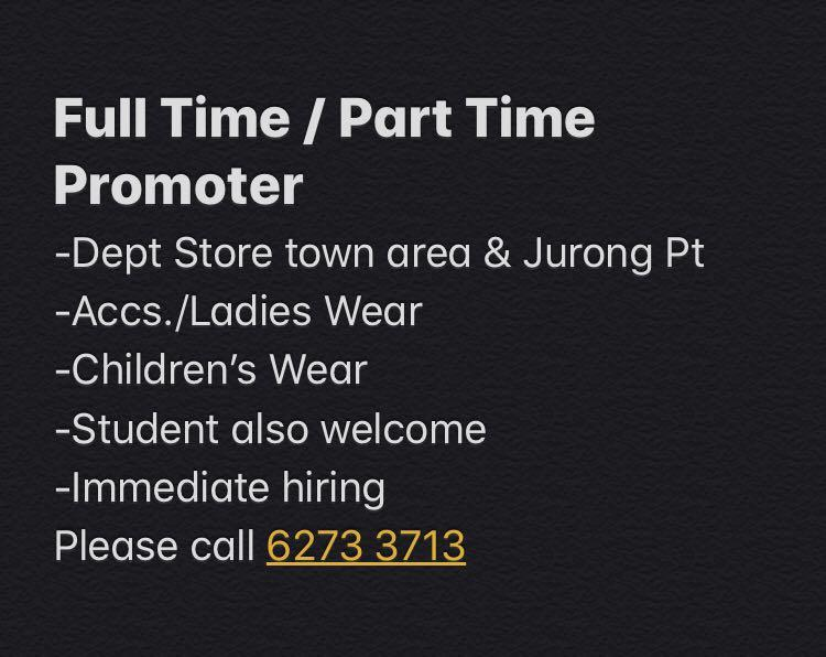 Full-time & Part-time Promoter