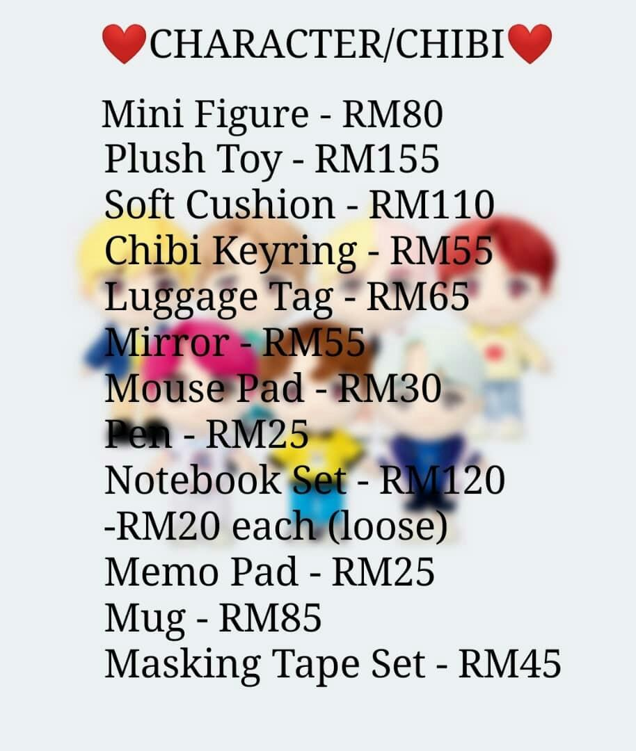 [GO] BTS POPUP STORE HOUSE OF BTS MD (CHIBI CHARACTER)