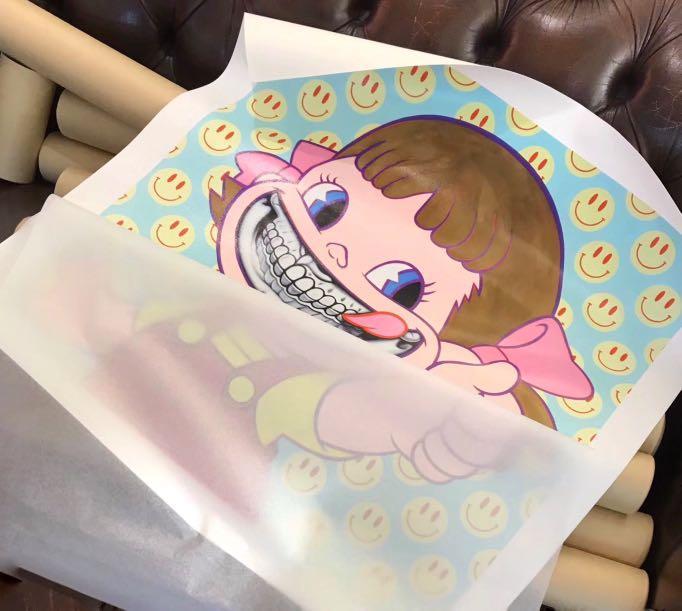 """X'mas SALE"" Grin Peko Girl 牛奶妹 Limited Canvas Print by Ron English"