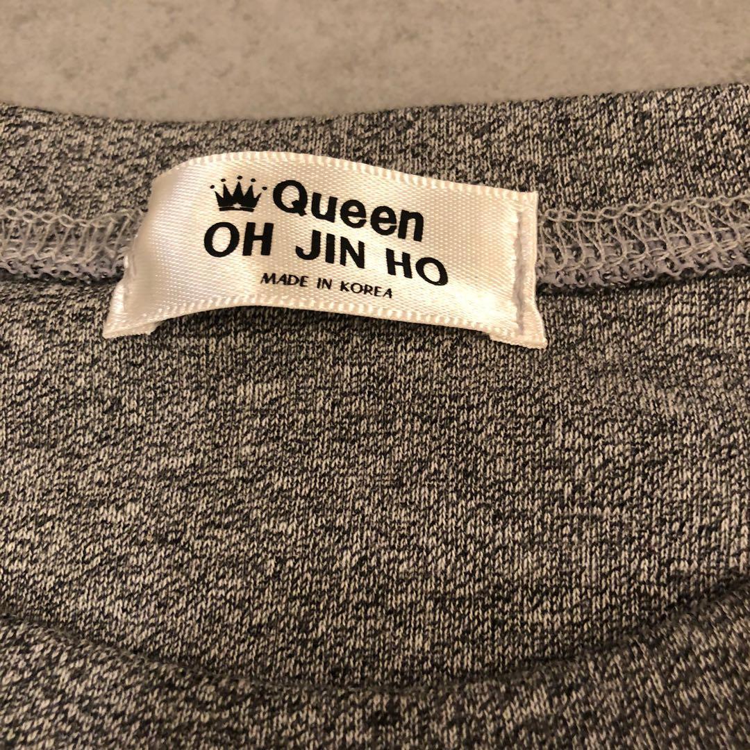 Korea grey blink blink shinny lips tee top 韓國女裝閃閃短袖衫
