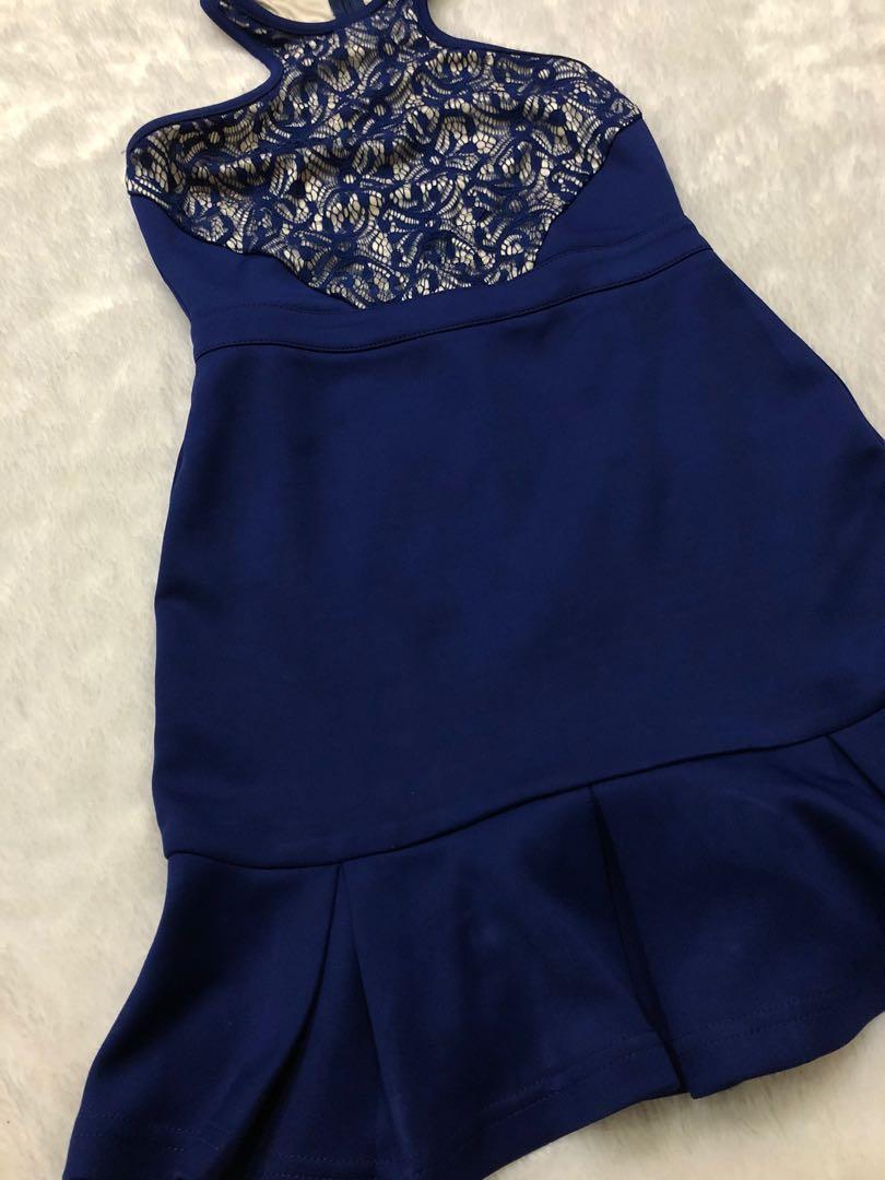 Lace blue dress