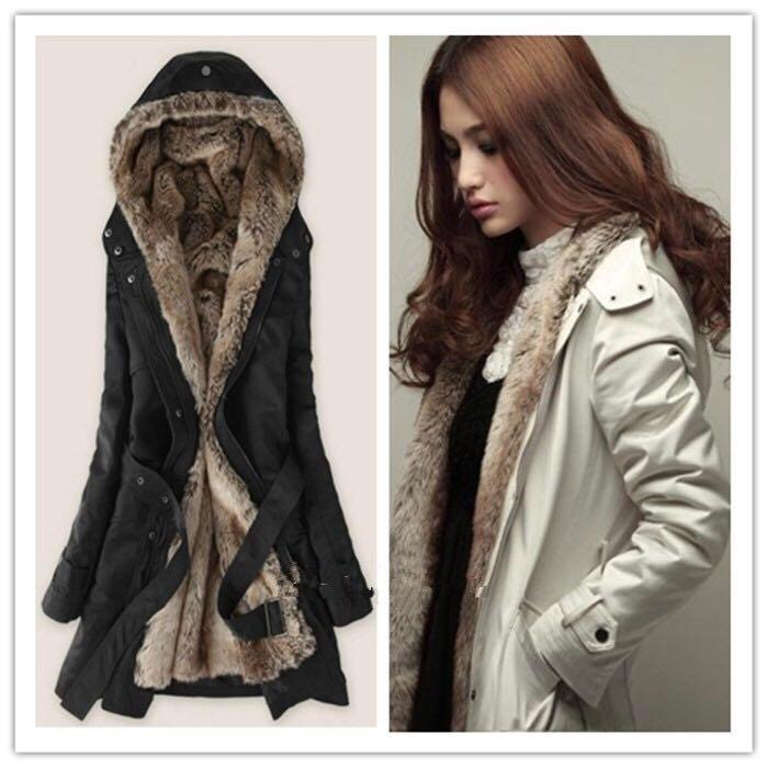 Lady Womens Thicken Warm Winter Coat Hood Parka Overcoat Long Jacket Outwear