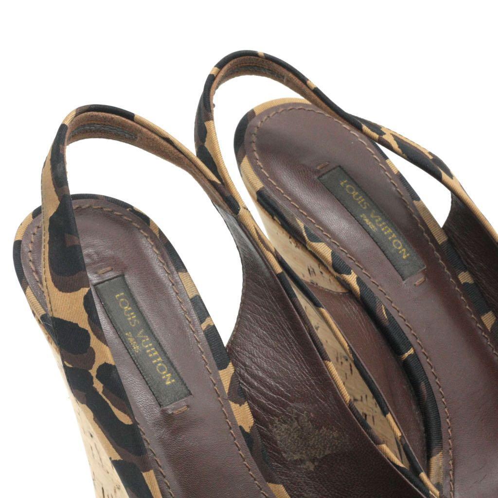 Louis Vuitton Savanna Platform Slingback Wedge Sandals