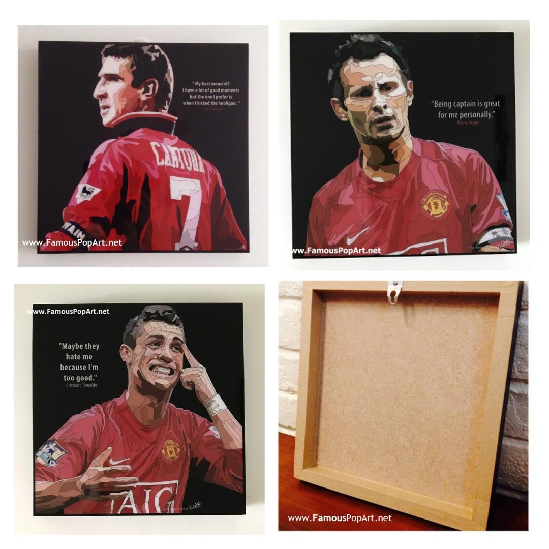 Manchester United Giggs Ronaldo PopArt! Wall Deco Portrait
