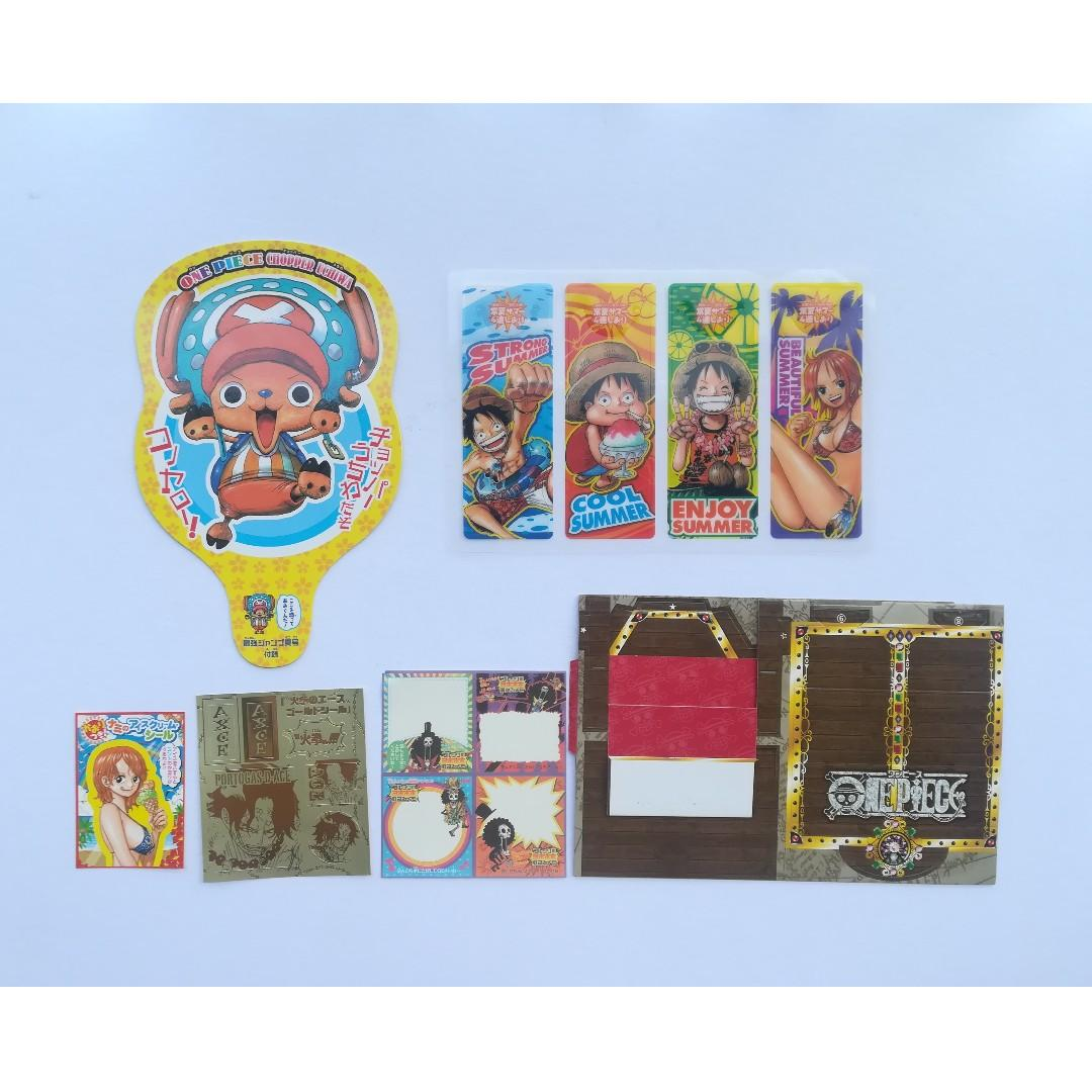 One Piece - Fan, Bookmark, Treasure Box-Type Assembly, Memo, Seal (Set)