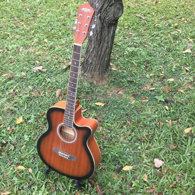 """Premium Sunburst 40"""" Electric Acoustic Guitar"""