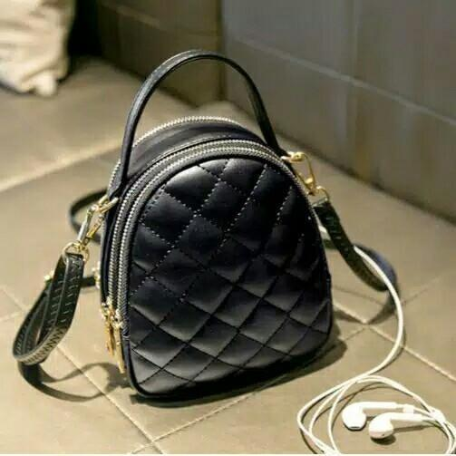 Promo Tas Zara Leather Slingbag Mini Black