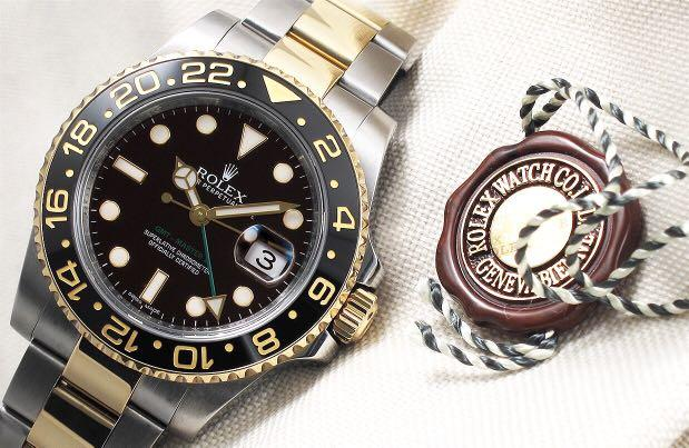 Rolex - GMT Master II Black Ceramic Steel & 18K Yellow Gold 'Random'