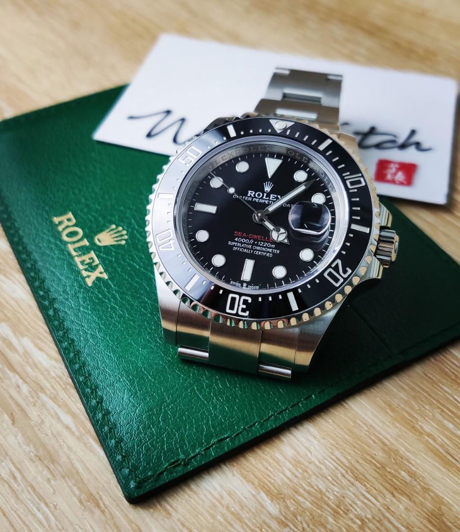 Rolex Watch 勞力士手錶  126600 Sea-Dweller 單紅 深潛 「2019保用證」「保用期內」「Sea-Dweller 50週年紀念版」