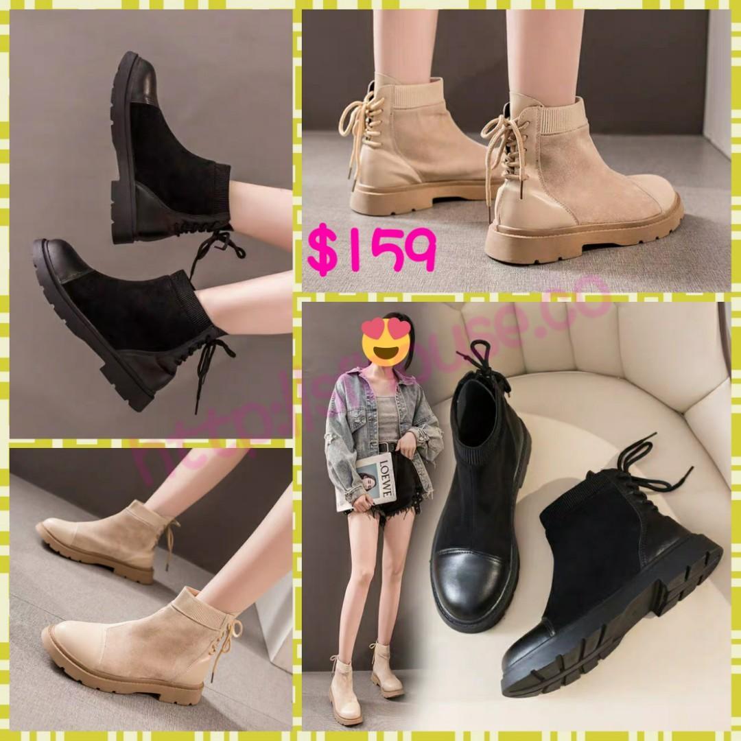 Shoes 鞋 高跟鞋 高踭鞋 短靴 靴 短boot boots boot 厚底鞋 鬆高鞋 鬆糕鞋