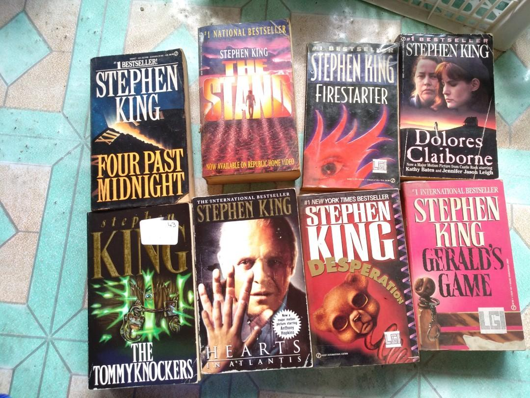 stephen king books four past midnight dolores claiborne the stand tommyknockers firestarter Gerald's game desparation heart in atlantis