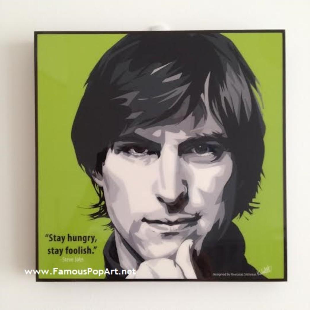 Steve Jobs (Stay hungry) PopArt! Portrait