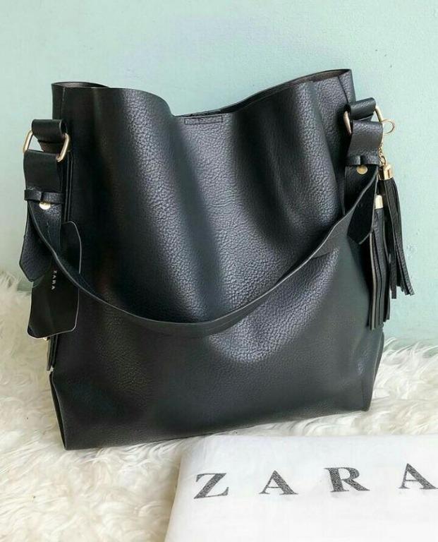 Tas Zara Bucket Bag Wanita Candy