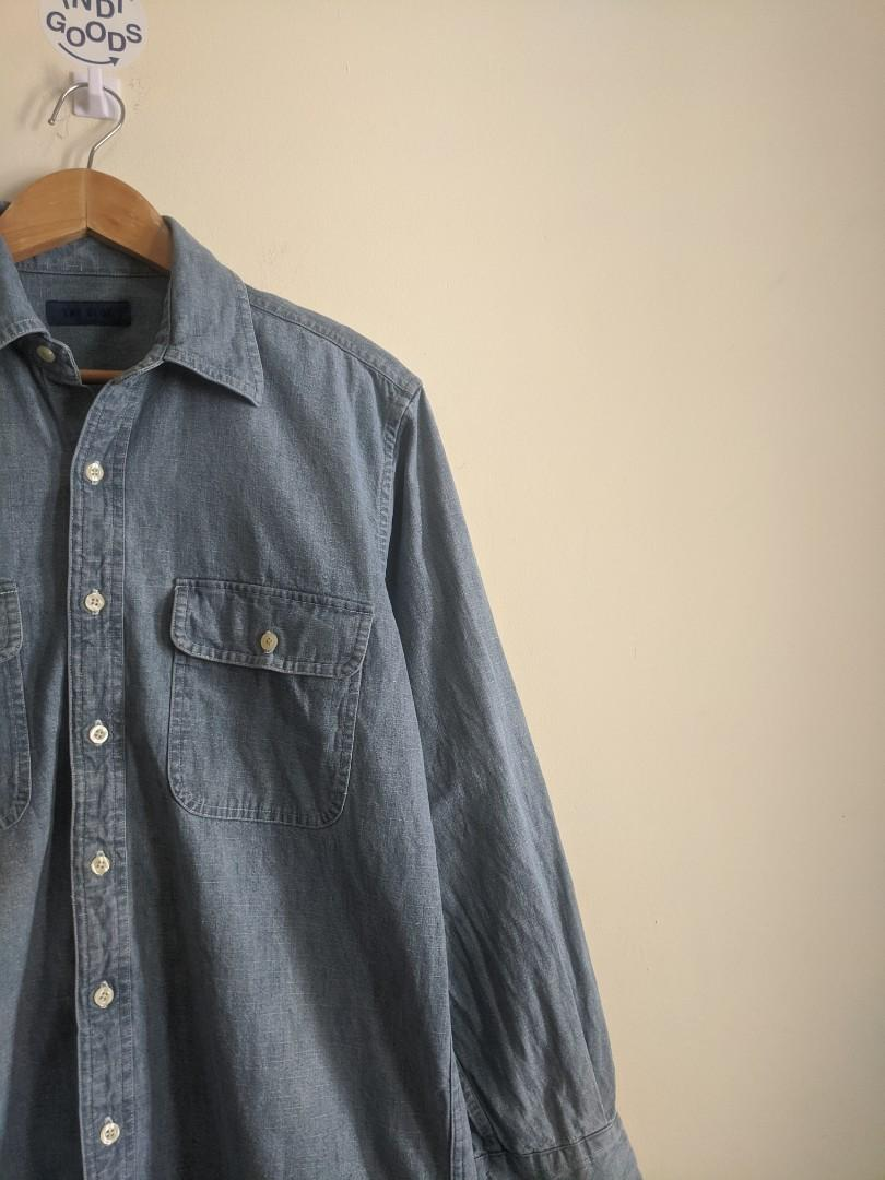The Blue Washed Denim Work Shirt #1111special