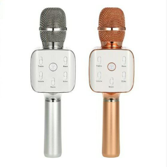Towing karaoke microphone silver.