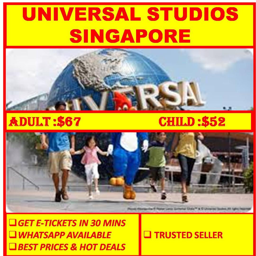 USS UNIVERSAL STUDIOS SINGAPORE E TICKET