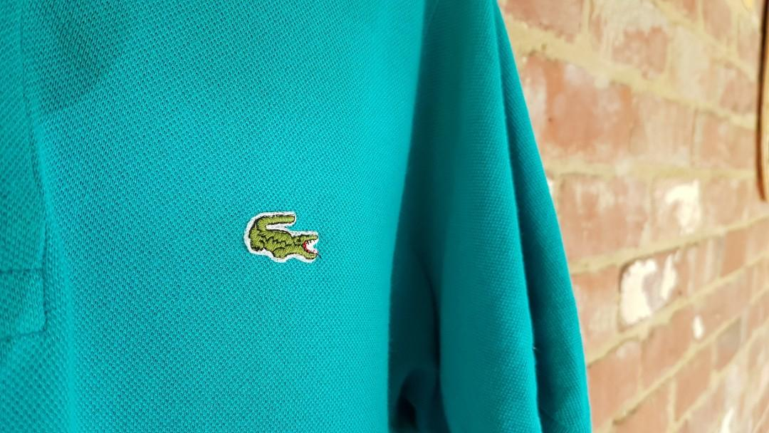 Vintage Lacoste Light Blue Polo Shirt L Made In Aus Chemise