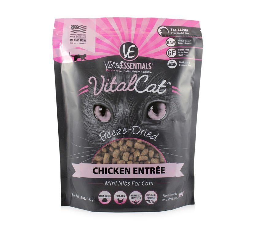 Vital Essentials 凍乾雞粒生肉貓糧 12oz