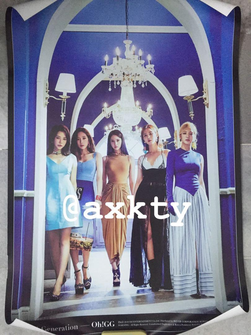 WTS OFFICIAL POSTER (SNSD OH GG, TAEYEON, TIFFANY, RED VELVET, BLACKPINK)