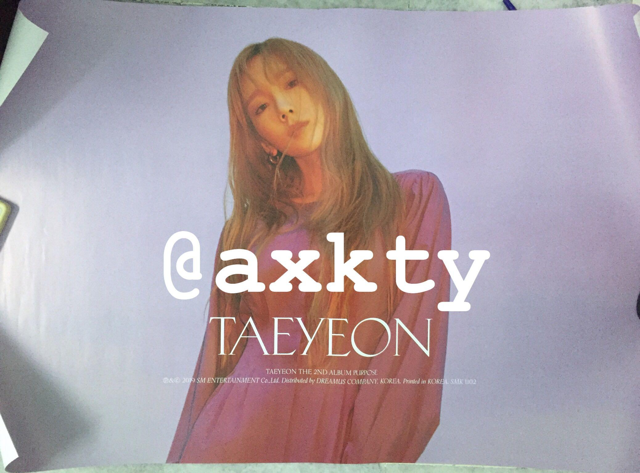 [WTS] TAEYEON - PURPOSE 2ND FULL ALBUM ONLY (+ POSTER)