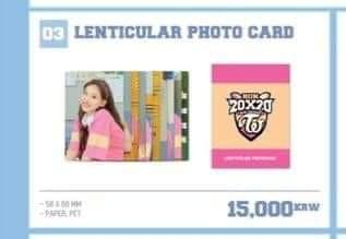 WTS TWICE 2020 SEASONS GREETING LENTICULAR PHOTOCARD LOOSE SET
