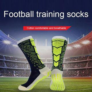 Free Delivery T New Soccer Socks Anti Slip Mid-calf Cotton Grid Style Team Sports Football Sock