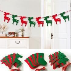 Free Delivery T Merry Christmas Bunting Banner Xmas Party Wall Window Hanging Decor Flag