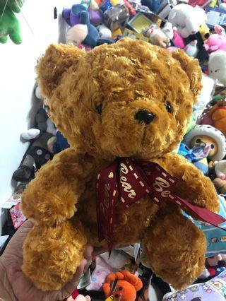 玻璃絨坐熊12英吋絨毛造型娃娃