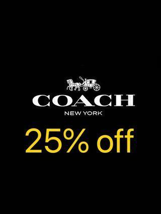Coach 25% off storewide