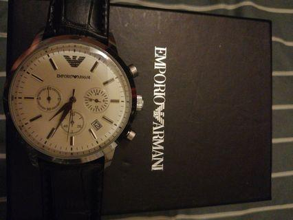 阿曼尼三眼錶