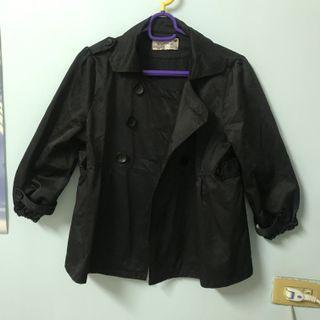 黑色雙排扣五分/七分袖外套