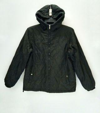 Converse Zip Up Bomber Jacket / Fleece Jacket with Hoodie