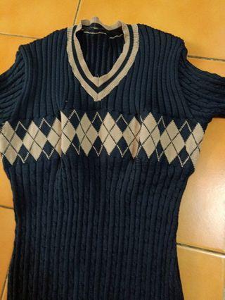 全新英風針織連身裙 大童 瘦小型穿