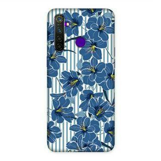 Blue Stripes Oppo Realme 5 Pro Custom Hard Case