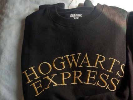不降不議 僅下水 Harry PotterXSpao  霍格華茲特快車 刷毛大學T 黑M