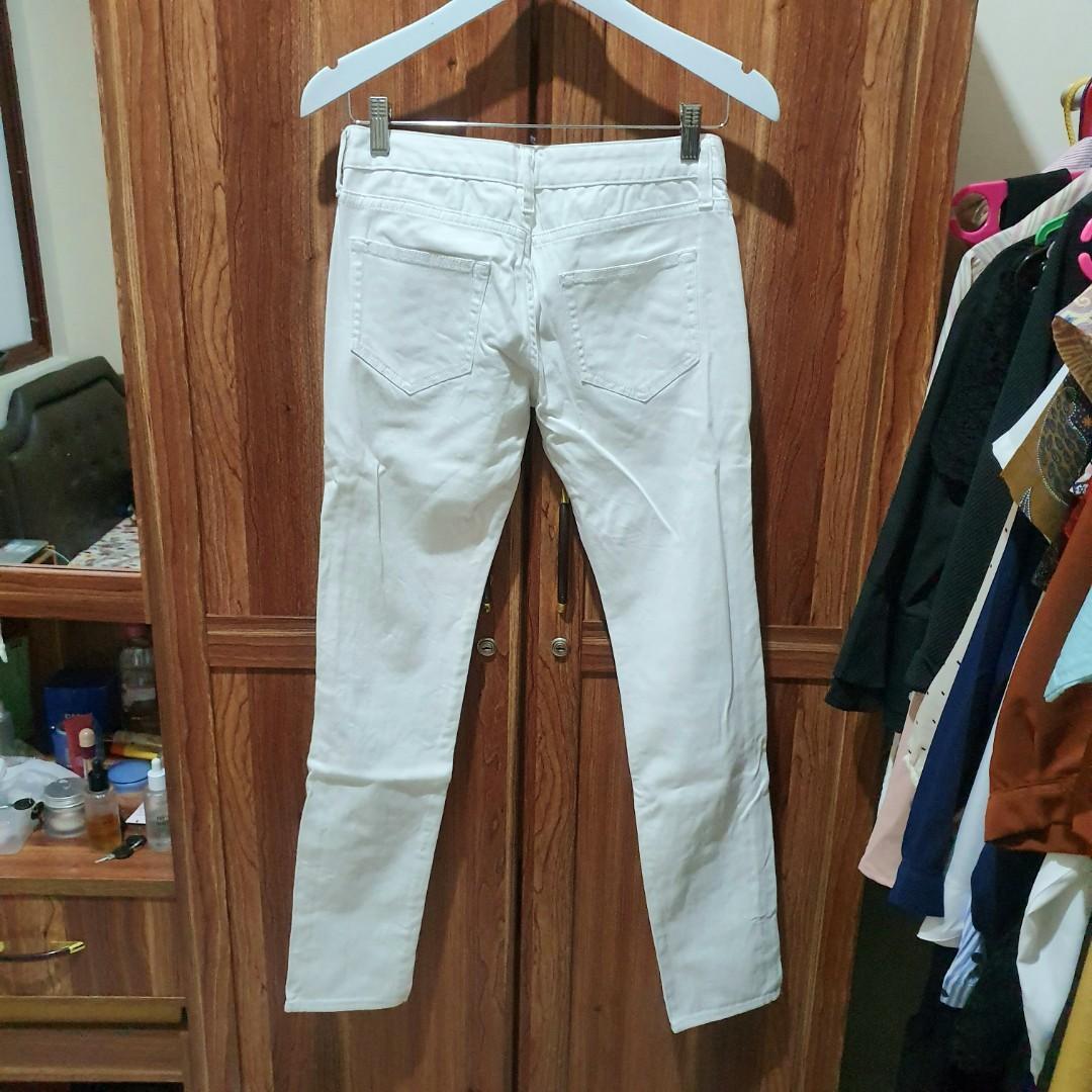 #1111special White Softjeans Highwaist HW Celana Jeans