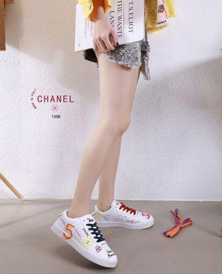 PO.3-5hari. Chanel sneakers. Size 36- sole 23cm, 37- sole 23.5cm, 38- sole 24cm, 39- sole 24.5cm, 40- sole 25cm. Heels.2.5cm. (LIMITED STOCK). Chanel seri Pharrell Coco.