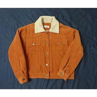 磚橘內鋪毛夾克外套