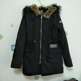 日本黑色帥氣厚外套