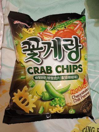 買物贈送新口味螃蟹脆片餅乾