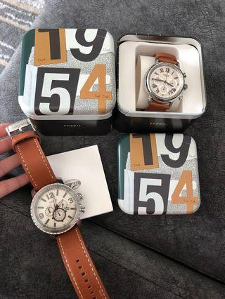 Fossil Watch Set Couple