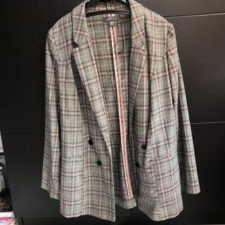Checkered Blazer Semi-formal