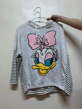 唐老鴨 飛鼠袖 上衣 迪士尼 前短後長 顯瘦 戴西