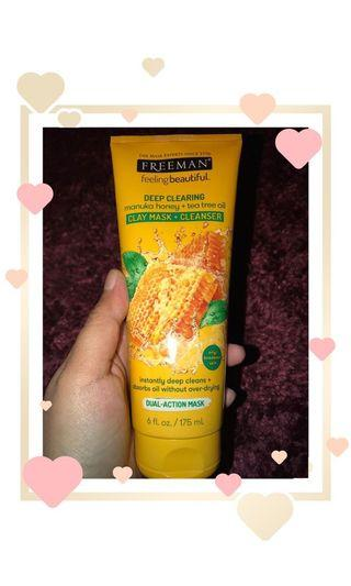 Freeman Claymask + Cleanser Manuka Honey & Tea Tree Oil ORI 💯